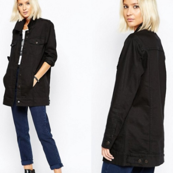 06571091b32d Cheap Monday Jackets & Blazers - Cheap Monday Women's Black Longline Denim  Jacket